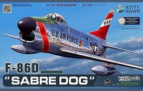 KittyHawk F86D Sabre Dog USAF Fighter (New Tool) Plastic Model Airplane Kit 1/32 Scale #32007