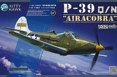 KittyHawk P39N/Q Fighter Plastic Model Airplane Kit 1/32 Scale #32013