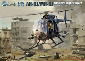 KittyHawk AH6J/MH6J Little Bird Nightstalkers Plastic Model Helicopter Kit 1/35 Scale #50003