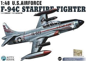 KittyHawk F94C Starfire USAF Fighter Plastic Model Airplane Kit 1/48 Scale #80101
