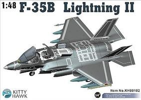 KittyHawk F35B Lightning II Fighter Plastic Model Airplane Kit 1/48 Scale #80102