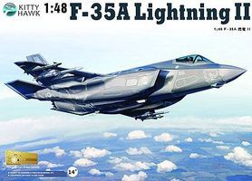 KittyHawk F35A Lightning II Fighter Plastic Model Airplane Kit 1/48 Scale #80103