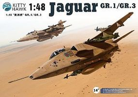 KittyHawk Sepecat Jaguar GR1/3 Aircraft Plastic Model Airplane Kit 1/48 Scale #80106
