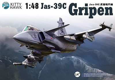 Kitty Hawk Models Jas39A/C Gripen Fighter (New Tool) (JUN) -- Plastic Model Airplane Kit -- 1/48 Scale -- #80117