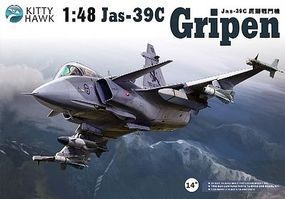 KittyHawk Jas39A/C Gripen Fighter (New Tool) (JUN) Plastic Model Airplane Kit 1/48 Scale #80117