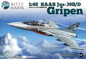 KittyHawk SAAB Jas39B/D Gripen Fighter Plastic Model Airplane Kit 1/48 Scale #80118