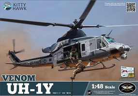 KittyHawk UH1Y Venom Attack Helicopter Plastic Model Helicopter Kit 1/48 Scale #80124