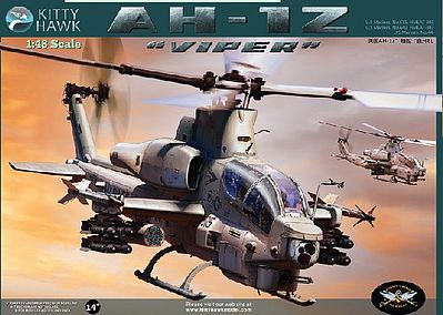 Kitty Hawk Models AH1Z Super Cobra Attack Helicopter -- Plastic Model Helicopter Kit -- 1/48 Scale -- #80125