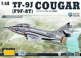 KittyHawk TF9J Cougar Fighter Plastic Model Airplane Kit 1/48 Scale #80129