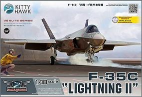 KittyHawk F35C Lightning II Fighter Plastic Model Airplane Kit 1/48 Scale #80132