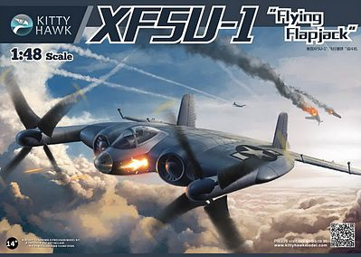 KittyHawk XF5U1 Flying Flapjack US Navy Fighter Plastic Model Airplane Kit 1/48 Scale #80135