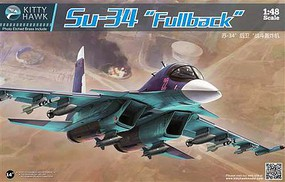 KittyHawk Su35 Russian Fighter (New Tool) Plastic Model Airplane Kit 1/48 Scale #80141