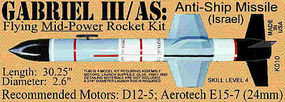 Launch-Pad Gabriel III/AS Pro Level 4 Model Rocket Kit #10