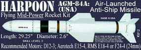 Launch-Pad Harpoon AGM-84A Level 3 Model Rocket Kit #12