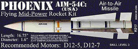 Launch-Pad Phoenix AIM-54C 1.6 Skill Level 3 Model Rocket Kit #17
