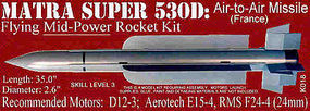 Launch-Pad Mat Super 530D Skill Level 3 Model Rocket Kit #18