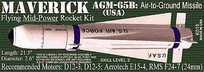 Launch Pad Rocket Kits Maverick AGM-65B -- Skill Level 3 Model Rocket Kit -- #19