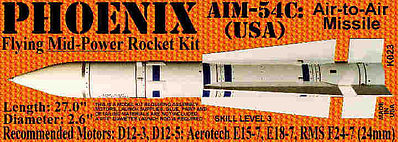 Launch Pad Rocket Kits PHOENIX AIM-54C 2.6' Skill 3