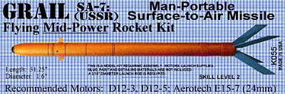 Launch Pad Rocket Kits GRAIL SA-7 Skill 2