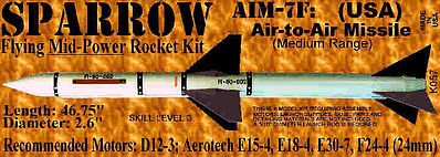 Launch Pad Rocket Kits SPARROW AIM-7F Skill 3