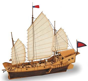Latina Ship Models 1/60 Red Dragon Chinese Junk