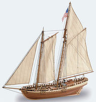 1/41 Virginia American Schooner Model Ship Kit