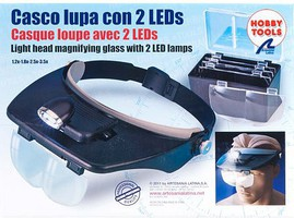 Latina Hands Free Magnifier Glasses w/2 LED Lights