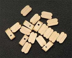 Latina Single Block 7mm (15) Wooden Boat Model Accessory #8515
