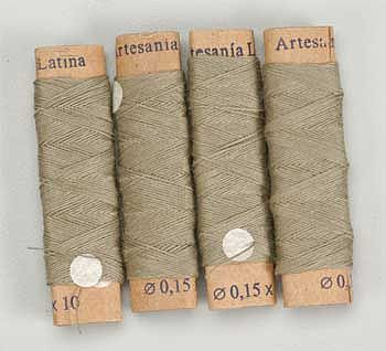 Latina Ship Models Cotton Thread .15mm Beige 40Meter
