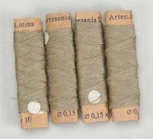 Cotton Thread .15mm Beige 40 Meter