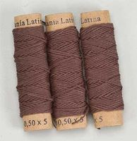 Latina Cotton Thread .5mm Brown 20Meter