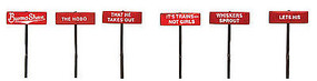 Labelle Burma Shave Sign Set #5 - N-Scale