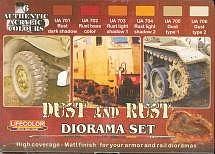Lifecolor Dust & Rust Diorama Acrylic Set (6 22ml Bottles)