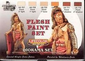 Lifecolor Flesh Tones Diorama Acrylic Set (6 22ml Bottles)