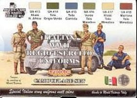Lifecolor Italian WWII Uniforms Camouflage Acrylic Set (6 22ml Bottles)