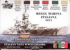 Lifecolor Italian Navy WWII Camouflage Acrylic Set (6 22ml Bottles)