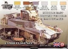 Lifecolor British WWII Middle East Vehicles Camouflage Acrylic Set (6 22ml Bottles)
