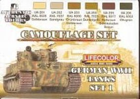 Lifecolor German WWII Tanks #1 Camouflage Acrylic Set (6 22ml Bottles)