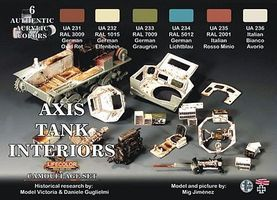 Lifecolor Axis WWII Tank Interiors Camouflage Acrylic Set (6 22ml Bottles)