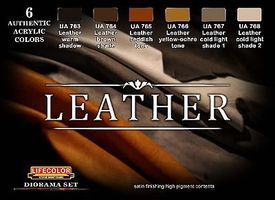 Lifecolor Leather Diorama Acrylic Set (6 22ml Bottles)