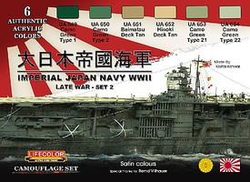 Lifecolor Imperial Japan Navy WWII Set #2 Acrylic Set (6 22ml Bottles)