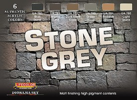 Lifecolor Stone Grey Diorama Acrylic Set (6 22ml Bottles)