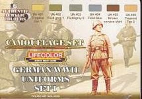 Lifecolor German WWII Uniforms #1 Camouflage Acrylic Set (6 22ml Bottles)