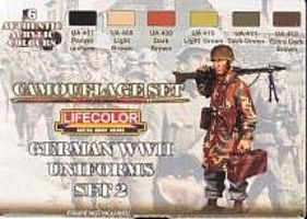 Lifecolor German WWII Uniforms #2 Camouflage Acrylic Set (6 22ml Bottles)