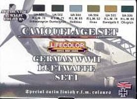 Lifecolor German WWII Luftwaffe #1 Camouflage Acrylic Set #1 (6 22ml Bottles)