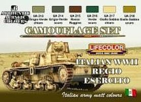 Lifecolor Italian WWII Army Camouflage Acrylic Set (6 22ml Bottles)