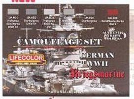 Lifecolor German WWII Kriegsmarine #1 Camouflage Acrylic Set (6 22ml Bottles)