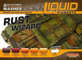 Lifecolor Rust Wizard Weathering Liquid Pigments Set (6 22ml Bottles)