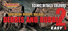 Lifecolor S. Europe Village Debris & Rubble Scenic Details Color #2 Acrylic Set (3 22ml Bottles)