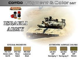 Lifecolor Israeli Army Pigment & Color Acrylic Set (6 22ml Bottles)